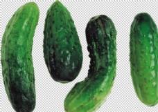 透明黃瓜png素材