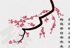 cdr立体梅花花朵花蕊红粉矢量