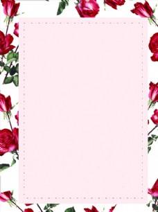 女性浪漫玫瑰背景