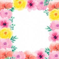 花圈多彩背景
