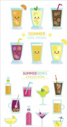 矢量果汁冷饮
