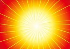 太阳 炫彩背景