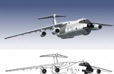 卡通造型民航客机飞机