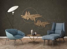 墙纸油画挂件装饰品展示空间
