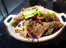中国传统美食炸皮渣