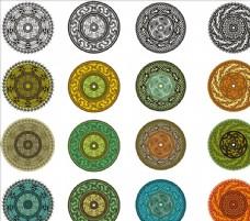 传统图案圆形花纹