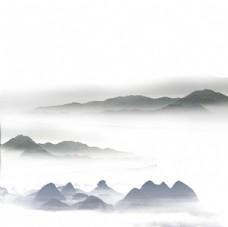 古风水墨远山