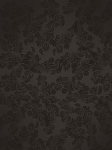 黑色欧式花纹背景