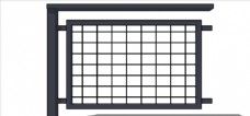铁栅栏 护栏 围栏 室外模型