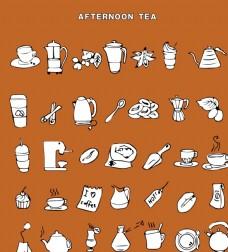 茶咖啡简笔