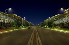 城市春节亮化节日灯光