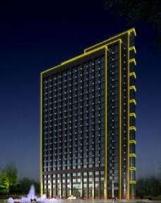 人防大厦城市美景设计