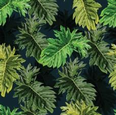 无缝植物花纹