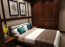 衣柜  红木 中式  主卧 卧