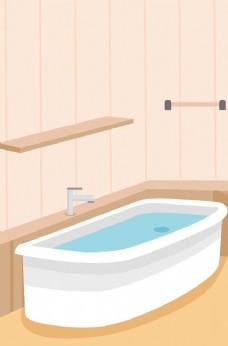 卡通浴室背景图