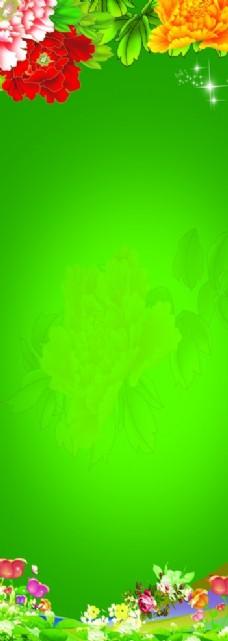 牡丹及绿背景