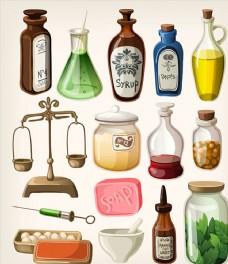 矢量瓶子素材