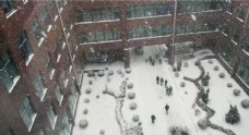 下雪时大连科技学院