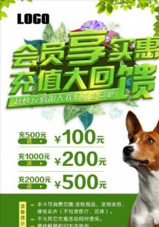 会员享实惠宠物医院海报
