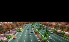 平湖道路绿化 景观效果图
