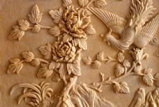 牡丹花浮雕