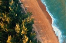 海滩沙滩俯瞰