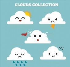 可爱云朵表情设计
