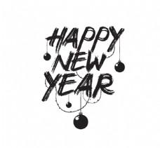 新年快乐徽章