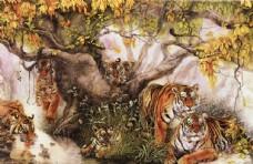 老虎 国画
