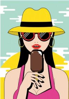 美女冰淇淋
