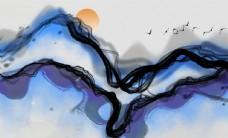 抽象中国风山水