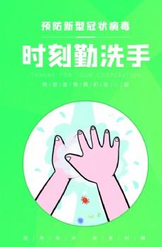 预防新型冠状病毒时刻勤洗手