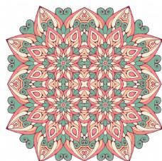 曼陀罗花纹