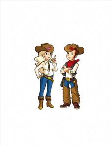西部牛仔情侣