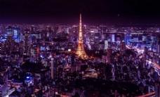 日本 东京 地标 塔 夜景