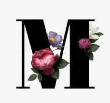 花 字母 M