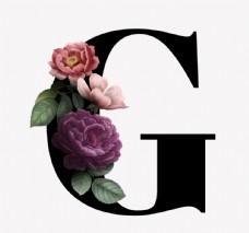 花 字母G