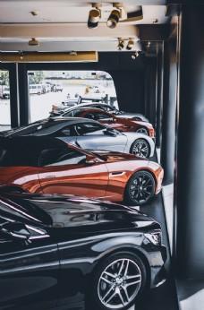 汽车跑车轿跑店面背景素材