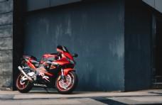 摩托车跑车赛车街头背景素材