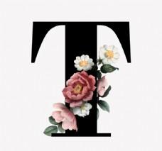 花 字母 T