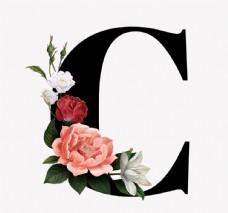 花 字母C