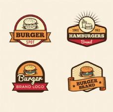 复古欧美汉堡快餐logo设计