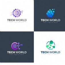 创意抽象商务科技logo设计