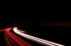 道路公路拖尾拖影