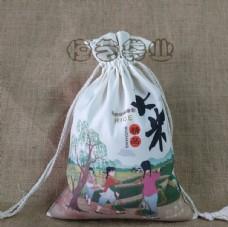 布袋包装 大米布袋 包装设计