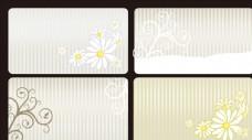花卉背景 花纹设计 名片背景
