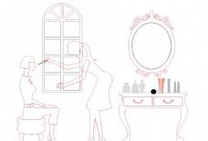 化妆  雕刻  女人