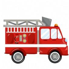 消防手绘矢量卡通形象素材