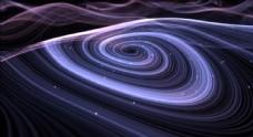 抽象粒子線條的藍紫色旋渦特效視