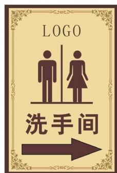 洗手间标志